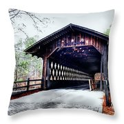 Bridge At Stone Mountain Throw Pillow