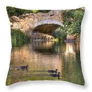 Bridge At Stow Lake Throw Pillow