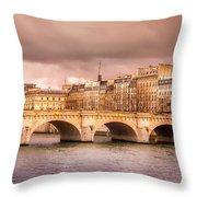 Bridge At Sunset Throw Pillow