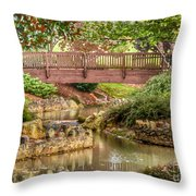Bridge At Shelton Vineyards Throw Pillow