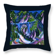 Bridge At Wiesen Throw Pillow