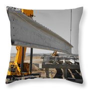 Bridge Building Bw Throw Pillow