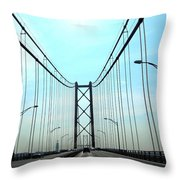 Bridge Crossing Throw Pillow