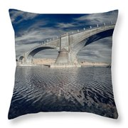 Bridge Curvature In Color Throw Pillow