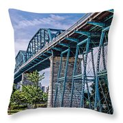 Bridge From The Park Throw Pillow