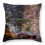 Bridge Garden Throw Pillow