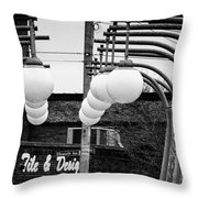 Bridge Globes Throw Pillow