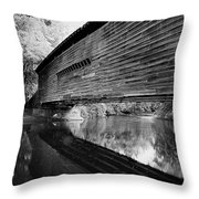 Bridge In Black And White Throw Pillow