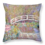 Bridge In Monet's Garden Throw Pillow