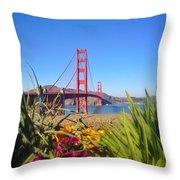 Bridge In Spring Throw Pillow