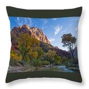 Bridge Mountain Throw Pillow