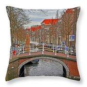Bridge Of Delft Throw Pillow