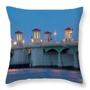 Bridge Of Lions At Dusk St Augustine Florida Throw Pillow