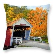 Bridge Of Madison County Throw Pillow