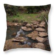 Bridge Of Rocks Across The River Throw Pillow