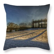 Bridge Of Spy's Sunset. Throw Pillow
