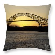 Bridge Of The Americas Panama Throw Pillow