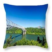 Bridge Of The Gods Throw Pillow