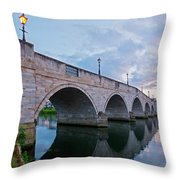 Bridge Of The River Thames At Chertsey Throw Pillow