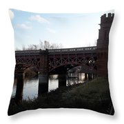 Bridge On The Firth Of Clyde Throw Pillow