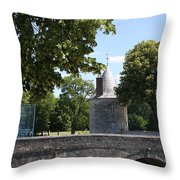 Bridge Over Chateau Moat Throw Pillow