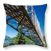 Bridge Over Columbia River Throw Pillow