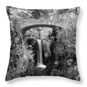Bridge Over Falls Throw Pillow