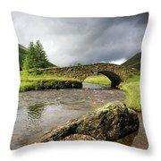 Bridge Over River, Scotland Throw Pillow