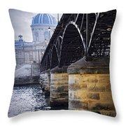 Bridge Over Seine In Paris Throw Pillow