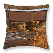 Bridge Over Smith River Throw Pillow