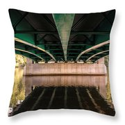 Bridge Over The Connecticut River Throw Pillow