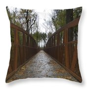 Bridge Over The Crik Throw Pillow