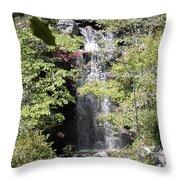 Bridge Over The Falls Throw Pillow
