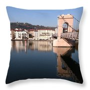 Bridge Over The Rhone River Throw Pillow