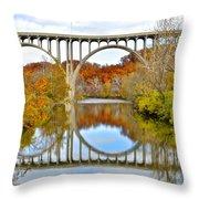 Bridge Over The River Kwai Throw Pillow