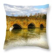 Bridge Over The River Wye Throw Pillow