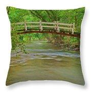 Bridge Over Valley Creek Throw Pillow