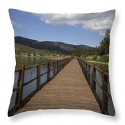 Bridge Over Water Throw Pillow