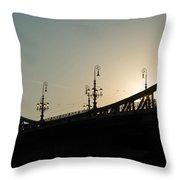 Bridge Silhouette Throw Pillow