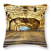 Bridge Span Throw Pillow