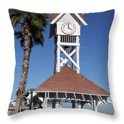 Bridge Street Pier And Clocktower  Throw Pillow