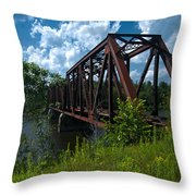 Bridge To A Time Gone By Throw Pillow
