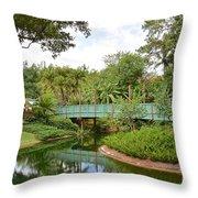 Bridge To Adventure Throw Pillow