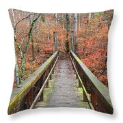 Bridge To Fall Throw Pillow