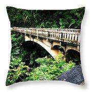 Bridge To Hana Maui Throw Pillow
