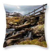 Bridge To Idwal Throw Pillow