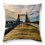Bridge To No Where Throw Pillow