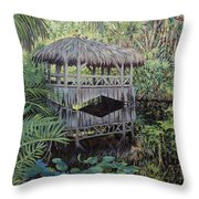 Bridge To Paradise Throw Pillow by Danielle  Perry