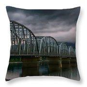 Bridge To Teslin Throw Pillow