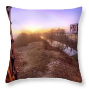 Bridge To The 21st Century - Clinton Presidential Library - Arkansas - Little Rock Throw Pillow